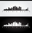 virginia beach usa skyline and landmarks vector image vector image