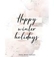 watercolor winter holidays christmas greeting vector image vector image