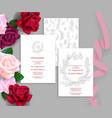 wedding stationery set vector image vector image