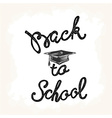 Welcome back to school hand lettering sketch vector image