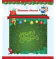 Winter holiday template vector image vector image