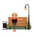 young freelancer working vector image