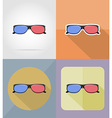 cinema flat icons 15 vector image