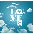Abstract romantic card Realistic sky background vector image