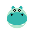 hippopotamus cartoon animal head vector image
