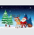a santa in winter snow vector image vector image