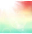 abstract background with summer sun and vector image vector image