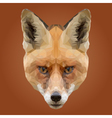 Abstract Low Poly Fox Design vector image vector image