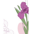 abstract of spring iris flower vector image vector image