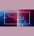 abstract space background connection structure vector image vector image