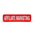 affiliate marketing red three-dimensional square vector image