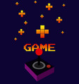 arcade vintage gamepad vector image