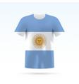 argentina flag t-shirt vector image