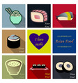 asian food background asian food poster asian vector image vector image