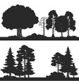 black forest trees of set silhouettes vector image vector image