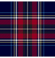 Blue red check plaid texture seamless pattern vector image vector image