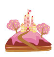 castle with candy vector image vector image