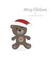 christmas card with isolated teddy bear vector image vector image