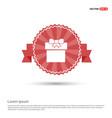 christmas gift box icon - red ribbon banner vector image