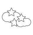 cloud an stars icon vector image