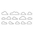 cloud with a black outline in a linear style vector image