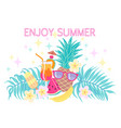 colorful enjoy summer composition vector image