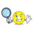 detective character pineapple slice fresh vector image vector image
