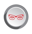 Eye glasses icon Optical glass appliance for vector image vector image
