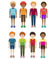 Faceless kids vector image