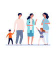 family doctor pediatrician parents with children vector image