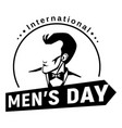 fashion men day icon simple style vector image