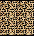 fashionable leopard seamless pattern stylized vector image vector image