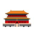 forbidden city in beijing china vector image