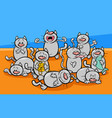 funny cats characters cartoon vector image vector image