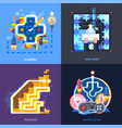gamification motivation concept flat square vector image vector image