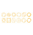 golden geometric frames vector image
