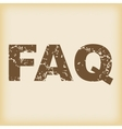Grungy FAQ icon vector image vector image