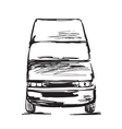 Hand drawn commercial transport vector image vector image