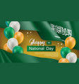 happy arabian national day greeting card vector image vector image