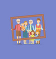happy big family father mother kids vector image vector image