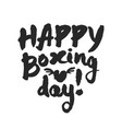 happy boxing day lettering vector image