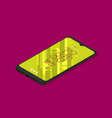 isometric icon mobile phone in flat style vector image vector image