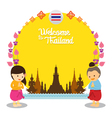 Kids Welcome to Thailand Frame vector image