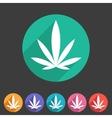 marijuana cannabis icon flat web sign symbol logo vector image vector image