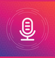 microphone speech recognition linear icon vector image vector image