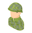 military man icon isometric 3d style vector image vector image