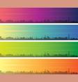 milwaukee multiple color gradient skyline banner vector image