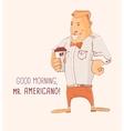 Mister Caffe Americano vector image