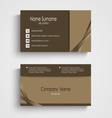 Modern sample brown business card template vector image