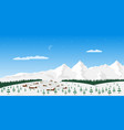 mountain village landscape vector image